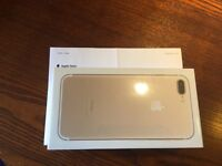 BRAND NEW iPhone 7 Plus 256GB GOLD UNLOCKED WITH RECEIPT