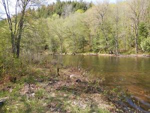 Terrain boisé avec accès à la rivière Saint-Sixte