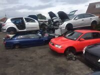OPERATING VEHICLE DISMANTLERS YARD FOR SALE ELV LICENCE IN PLACE WITH STOCK MACHINERY