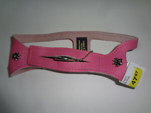 Pink Leather ( Choke Free ) Pet Harness
