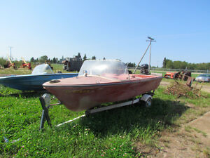 12' Barracuda boat with trailer