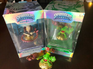 3 Skylander Elite figures, incl. 2 in original packaging