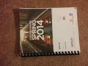 Selling Waterloo ECE 1A and 1B books Kitchener / Waterloo Kitchener Area image 1