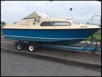 Shetland 570 hull , electrics , trailer , camping cover, no engine