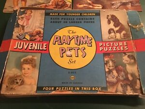 THE PLAYTIME PETS SET~ 4 JUVENILLE PICTURE PUZZLES Sarnia Sarnia Area image 2