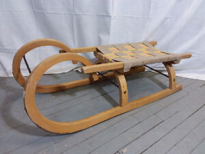 REDUCED - Vintage Wooden Sleigh