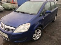 2009 Vauxhall Zafira 1.6 Exclusive 7 seater Low mileage