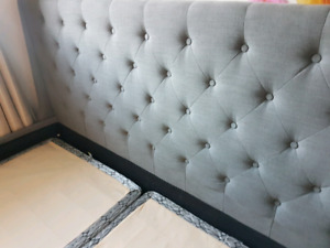 King Bed and Headrest - Upholstery