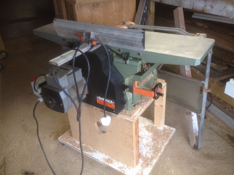 Dewalt Dw1150 Planer Thicknesser 240v Good Condition In