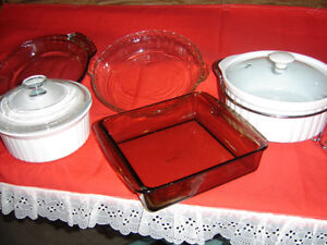 Pyrex and corningware