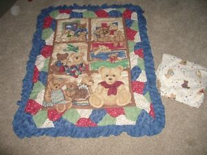 Baby quilt and sheet