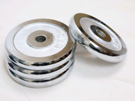 """4x5kg 1"""" Chrome Weight Plates (20kg total)"""