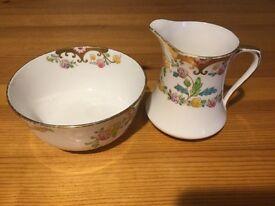 Royal Albert Crown China Milk Jug and Sugar Bowl
