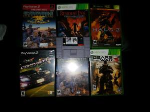 Ps2, Xbox and one snes game for sale