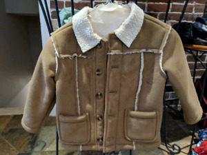 Boys/kids/childs shearling sheep coat sz4
