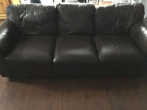 Espresso leather couch