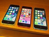 3 x Apple iPhone 5c For Sale Green & Pink & Blue £100 Each