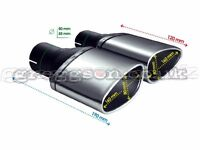 Custom Stainless Steel Exhaust Tail Pipes 160x80mm