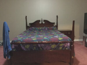 Queen Size bed with closet and side tables for $100.00