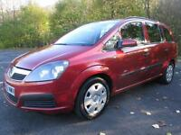 05/55 VAUXHALL ZAFIRA 1.6 LIFE 7 SEAT MPV IN MET RED WITH SERVICE HISTORY