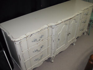 Shabby Chic Antique French Provincial Dresser Set (Pair)