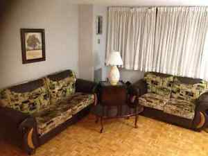 Sofa and Loveseat and End Tables