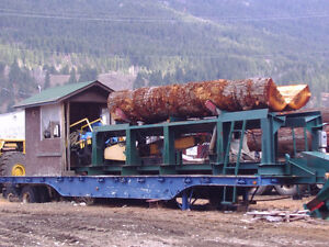 Portable cargo trailer workshop and portable sawmill