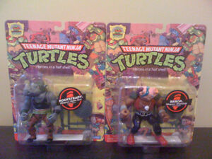 TMNT Action Figures 25th anniversary Rocksteady and Bebop