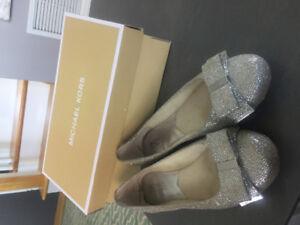 Micheal Kors Silver/Glitter Ballet Flat
