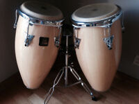 LP Aspire Congas like new with Stand, excellent, $300