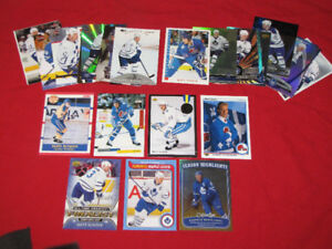 Groups of star cards: Sundin (28 cards), Jagr, Iginla, others