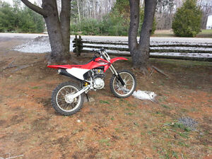 Honda CRF 230 with upgraded forks