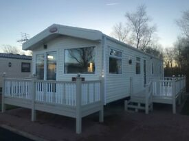 Luxury Static Caravan in Cumbria, Includes decking, only 6 Months Old Immaculate Condition