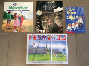 4 kids books - Lemony Snicket, Billy the Kid, etc.