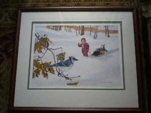 """Bill James"""" I See Something"""" Limited Edition Watercolor Print Kitchener / Waterloo Kitchener Area image 1"""