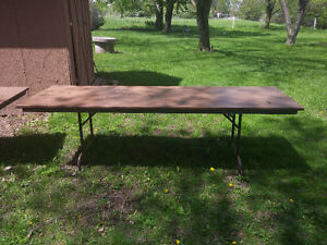 10ft to 12ft long folding tables