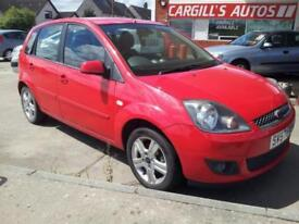 FORD FIESTA ZETEC CLIMATE TDCI 2007 Diesel Manual in Red
