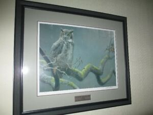 Robert Bateman signed limited edition print of Great Horned Owl