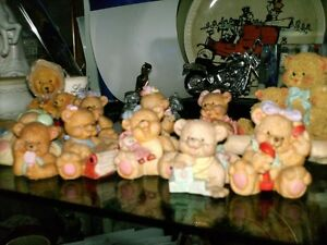 Teddy Bear & Other Red Rose  Figurines Candlesticks etc