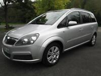 07/56 VAUXHALL ZAFIRA 1.6 ACTIVE 7 SEAT MPV IN MET SILVER WITH SERVICE HISTORY