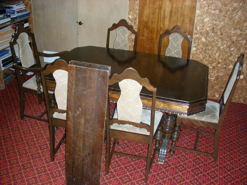 Ensemble de salle manger complet antique 1920 for Mobilier de cuisine antique