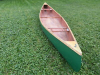 Antique 16 ft fast water canoe