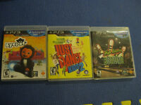 3 PS3 Move Games Eyepet, Just Dance Kids 2, Bowling