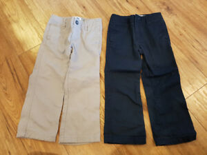 Old Navy 'Uniform' style pants - 2 pair lot  NWOT sz 4T