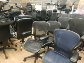 Top branded office chairs herman miller aeron rh logic steelcase
