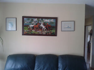 Wild Horse Needlepoint Picture