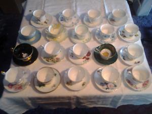Vantage teacups and saucers