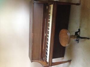 Gerhard Heitzman Piano & Stool for Sale