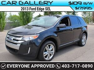 2013 Ford Edge SEL w/Sunroof, Leather, Navi $109B/W QUICK  EASY