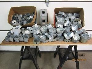 Various Electrical outlet boxes plugs,switches, lights
